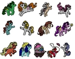 MY LITTLE PONY EMBROIDERY MACHINE DESIGNS - PACK OF 13 - MUST HAVE COLLECTION - TAKE A LOOK