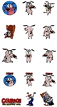 Courage The Cowardly Dog EMBROIDERY MACHINE DESIGNS - PACK OF 15 - TAKE OF LOOK