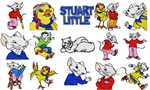 STUART LITTLE CARTOON EMBROIDERY DESIGNS - PACK OF 15