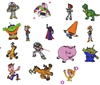 TOY STORY EMBROIDERY MACHINE DESIGNS - PACK OF 16 - 4X4 COLLECTION