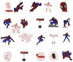 SPIDER MAN EMBROIDERY MACHINE DESIGNS - PACK OF 15 - TAKE OF LOOK