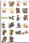 26 BLINKY BILL CHARACTER EMBROIDERY MACHINE DESIGNS