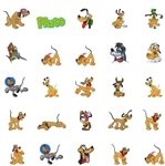 PLUTO THE PUP EMBROIDERY MACHINE DESIGNS - SET OF 28 - CUTE DISNEY COLLECTION - TAKE A LOOK