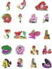 LITTLE MERMAID EMBROIDERY MACHINE DESIGNS 4X4 - PACK OF 34 - TAKE A LOOK