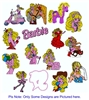 BARBIE DOLL EMBROIDERY MACHINE DESIGNS - PACK OF 35- 4X4 COLLECTION