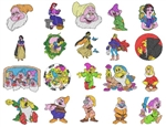 SNOW WHITE EMBROIDERY MACHINE DESIGNS - PACK OF 60 - TAKE A LOOK - CUTE COLLECTION