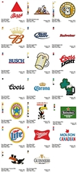 BEER LOGOS CARTOON EMBROIDERY MACHINE DESIGNS PATTERNS