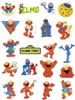 ELMO MUPPET CHARACTER EMBROIDERY DESIGNS - PACK OF 20