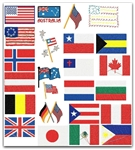 FLAGS AMERICAN + MORE COUNTRIES EMBROIDERY DESIGNS - SET OF 54