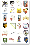 HARRY POTTER EMBROIDERY MACHINE DESIGNS - SET OF 70