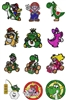 MARIO BROTHERS EMBROIDERY MACHINE DESIGNS - PACK OF 22 - TAKE A LOOK2 GAME COLLECTION 4X4