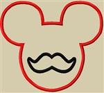 MICKEY MOUSE DISNEY HEAS WITH MUSTACHE EMBROIDERY DESIGNS PATTERNS