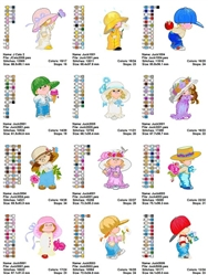 Moorehead CuTe Collection EMBROIDERY MACHINE DESIGNS PATTERNS