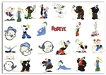 POPEYE THE SAILOR Embroidery Designs - Set of 24 FITS IN 4x4