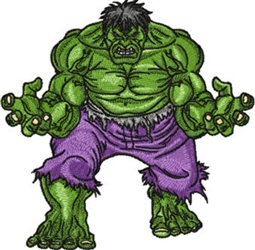The Incredible Hulk Embroidery Designs Many Sizes