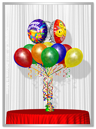 <b>Birthday Balloon Bouquet</b> #8 - (13 Latex & 3 Foil)