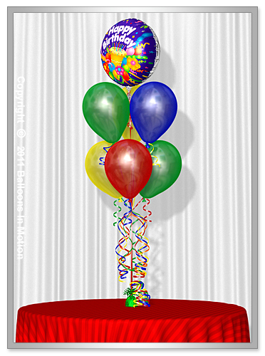 <b>Birthday Balloon Bouquet</b> #4 - (6 Latex & 1 Foil)