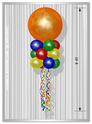 "Triple Stacked <b>Balloon Kite</b> (36"" Balloon Topper)"