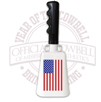 American Flag Cowbell