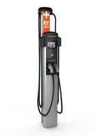 This is a photo of a Chargepoint CT4021 Bollard Mount Double Car Charging Station
