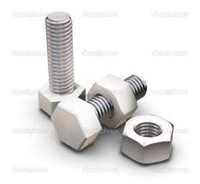 "This is a photo of 2"" Galvanized Bolts"