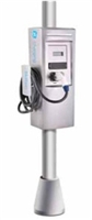 This is a photo of a GE Durastation w/RFID EVPRN3 30 amp Pole Mount Car Charging Station