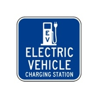 "Electric Vehicle Charging Station Logo Sign 18""x18"""
