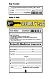 "Patients Medicine Inventory Security Bag 15""x20"""