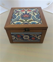 Handcrafted Ceramic and Wood Box
