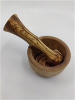 Olive Wood Mortar and Pestle Set