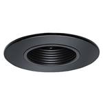 "B1201P-BK | 2"" Stepped Baffle Trim - Regressed 