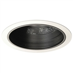 "B630P-WH | 6"" Incandescent Stepped Baffle Trim R30/PAR30 