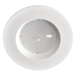 "RL625-14W-120-DIM-FL-30K-W-WH | 5"" or 6"" Recessed LED Retrofit with Stepped Baffle Trim - 14 Watt 
