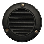 US-120BK | Maui Round Louvered Step Light - Black | USALight.com
