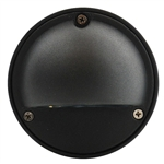 US-170VG | Maui Round Half Covered Step Light - Black | USALight.com