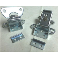 (2) Two Butterfly Latches (Surface Mount) with Keeper Plate