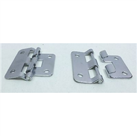 (2) Two Small Take Apart Hinges or Lift Off Hinges (Chromed)