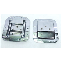 (2) Two Medium Chrome Recessed Stay Lid For ATA Cases