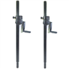 One (1) Pair LASE 101 Speaker Pole Mount Crank System with Folding Hand Crank