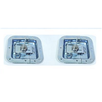 (2) Two Zinc-Plated Medium Butterfly Latches (Split Dish) For ATA Road Cases