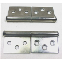 (2) Two Small Take Apart Hinges / Slip Off Hinges (Chromed)