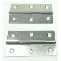 (2) Two Small Swing Hinges or Stay Hinges (Chromed)