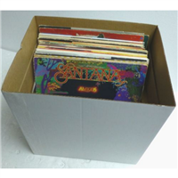 "Heavy-Duty 12"" / LP Record Box For Road, Show or Storage Vinyl Album Box w/ Lid"