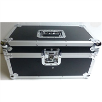 "7"" / 45 Double Row Record Box ATA Flight Case Holds 200+ Vinyl Records"