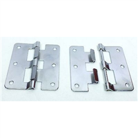 (2) Two Large Take Apart Hinges or Lift Off Hinges (Chromed)