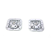 (2) Two Chrome Small Butterfly Latches (Split Dish,Padlock) For ATA Road Cases