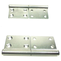 (2) Two Large Take Apart Hinges or Slip Off Hinges (Chromed)