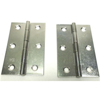 (2) Two Large Swing Hinges or Stay Hinges (Chromed)