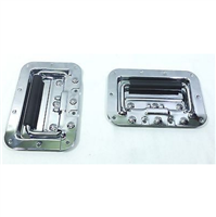 (2)Two Chrome Plated Spring-Loaded Recessed Handles For ATA Road Cases - Medium