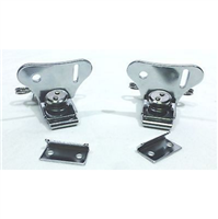 (2) Two Exterior Lockable Butterfly Latches with Keeper Plate (Chromed Finish)